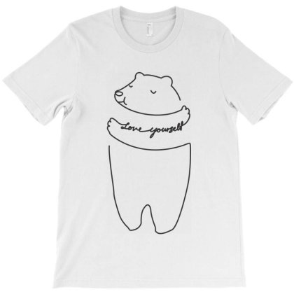Bear Love Yourself T-shirt Designed By Estore