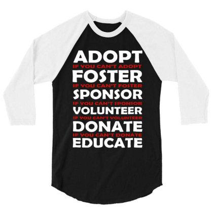 Animal Rescue Vintage 3/4 Sleeve Shirt Designed By 4905 Designer