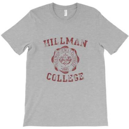 Hillman College Seal Maroon T-shirt Designed By Gueftash