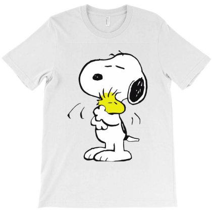 Cartoon Happy Hug T-shirt Designed By 4905 Designer