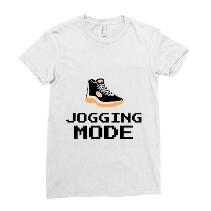 Jogging Mode Ladies Fitted T-shirt Designed By Artmaker79