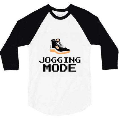 Jogging Mode 3/4 Sleeve Shirt Designed By Artmaker79
