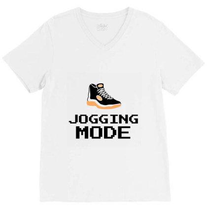Jogging Mode V-neck Tee Designed By Artmaker79