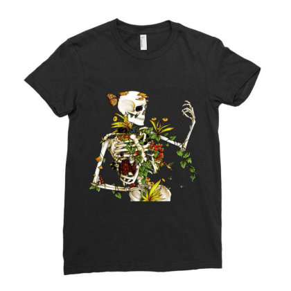 Amazing Bones And Botany Ladies Fitted T-shirt Designed By Jablay