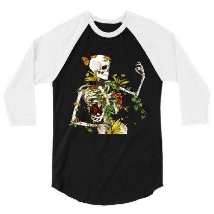 Amazing Bones And Botany 3/4 Sleeve Shirt Designed By Jablay