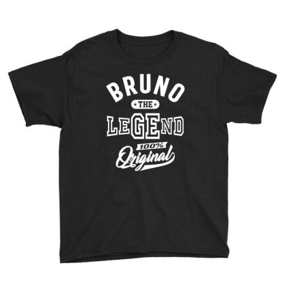 Bruno Personalized Name Birthday Gift Youth Tee Designed By Cidolopez