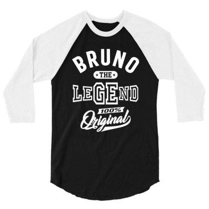 Bruno Personalized Name Birthday Gift 3/4 Sleeve Shirt Designed By Cidolopez