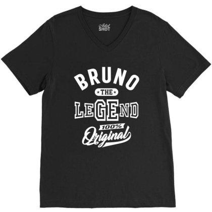 Bruno Personalized Name Birthday Gift V-neck Tee Designed By Cidolopez