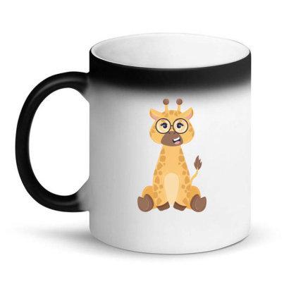 Giraffe With Glasses Magic Mug Designed By Yahia1