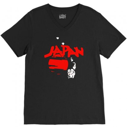 Japan Adolescent Sex V-neck Tee Designed By Hezz Art