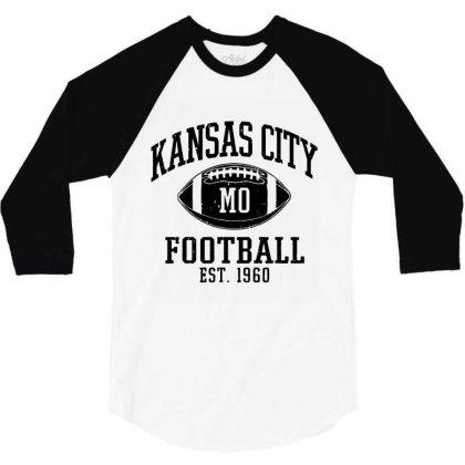Kansas City 2020 Vintage 3/4 Sleeve Shirt Designed By Suettan