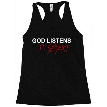 God Listens Racerback Tank Designed By Suettan