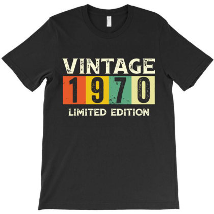 Gift 50th Birthday 1970 Limited Edition Vintage T-shirt Designed By Suettan