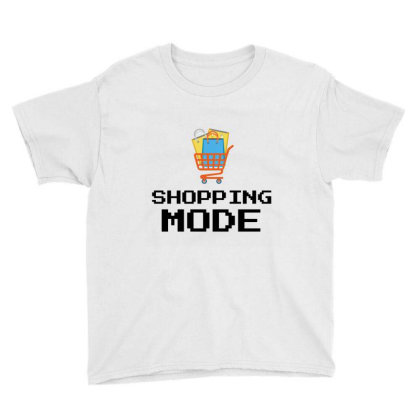 Shopping Mode Youth Tee Designed By Artmaker79