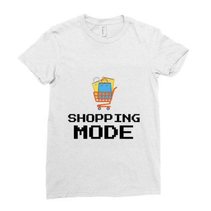 Shopping Mode Ladies Fitted T-shirt Designed By Artmaker79