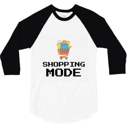 Shopping Mode 3/4 Sleeve Shirt Designed By Artmaker79