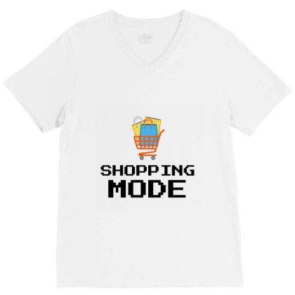 Shopping Mode V-neck Tee Designed By Artmaker79