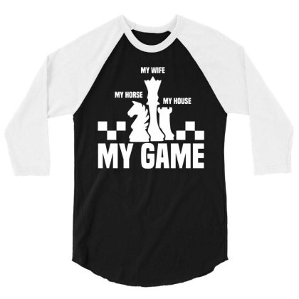 Chess Tournaments 3/4 Sleeve Shirt Designed By Toldo