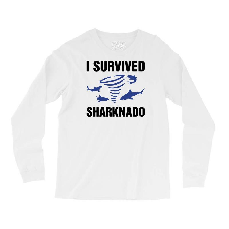 I Survided Sharknado Long Sleeve Shirts   Artistshot