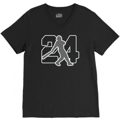 Ken Griffey Jr V-neck Tee Designed By Hezz Art