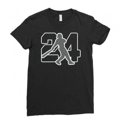 Ken Griffey Jr Ladies Fitted T-shirt Designed By Hezz Art