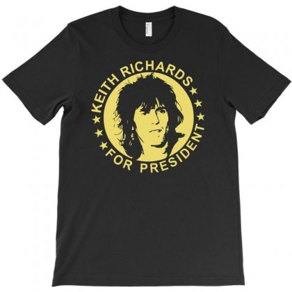 Keith Richards For President T-shirt Designed By Hezz Art
