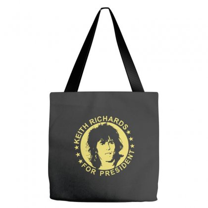 Keith Richards For President Tote Bags Designed By Hezz Art