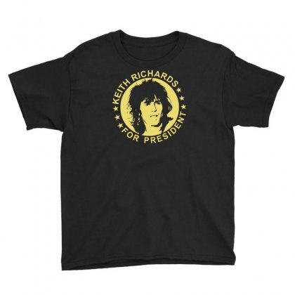 Keith Richards For President Youth Tee Designed By Hezz Art