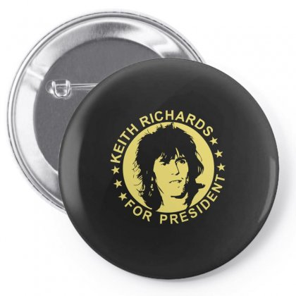 Keith Richards For President Pin-back Button Designed By Hezz Art