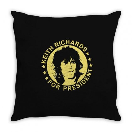Keith Richards For President Throw Pillow Designed By Hezz Art