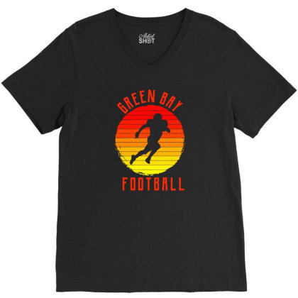 Green Bay For People Who Like Beach American Football And Sports V-neck Tee Designed By Toldo