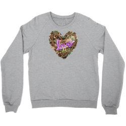 love camouflage heart Crewneck Sweatshirt | Artistshot