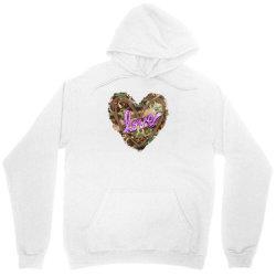 love camouflage heart Unisex Hoodie | Artistshot