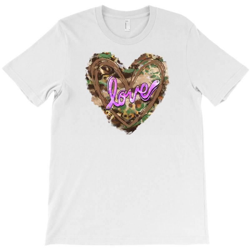 Love Camouflage Heart T-shirt | Artistshot