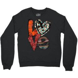 love cowhide heart Crewneck Sweatshirt | Artistshot