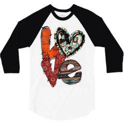 love cowhide heart 3/4 Sleeve Shirt | Artistshot