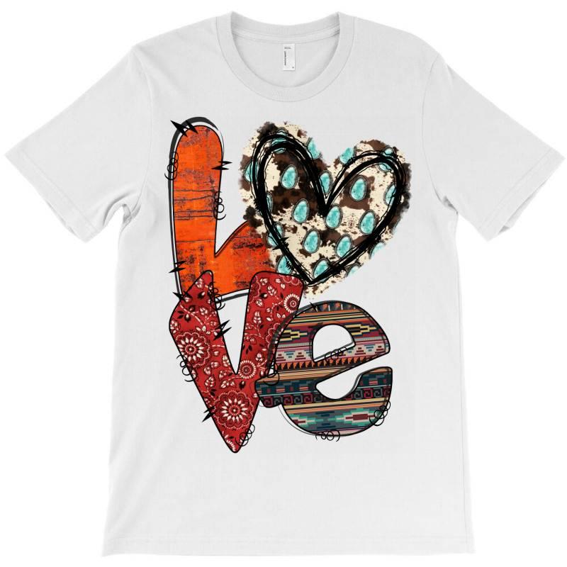 Love Cowhide Heart T-shirt | Artistshot