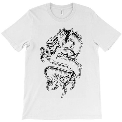 Dragon Black Style T-shirt Designed By Valerie  Apparel