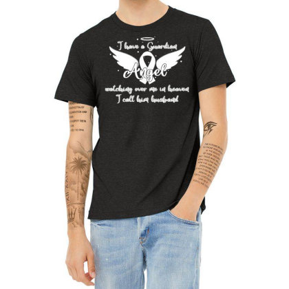 Guardian Angel Watching Over Me In Heaven Husband Heather T-shirt Designed By Toldo