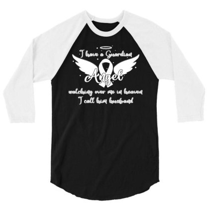 Guardian Angel Watching Over Me In Heaven Husband 3/4 Sleeve Shirt Designed By Toldo