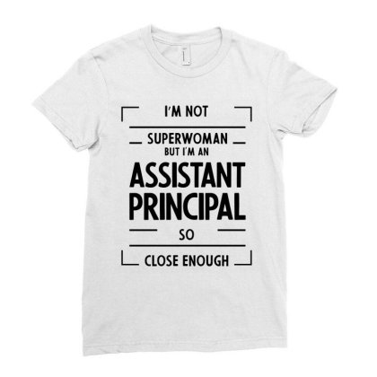 Assistant Principal - Job Occupation Gift Cool Ladies Fitted T-shirt Designed By Diogo Calheiros