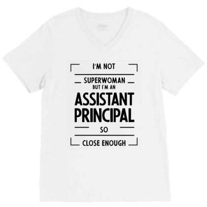 Assistant Principal - Job Occupation Gift Cool V-neck Tee Designed By Diogo Calheiros