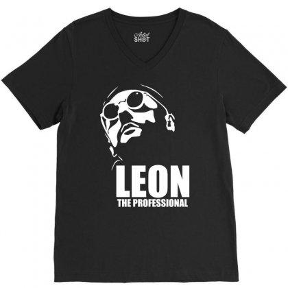 Leon Le Professionnel V-neck Tee Designed By Hezz Art