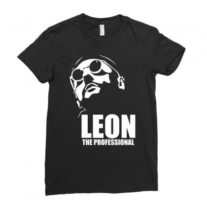 Leon Le Professionnel Ladies Fitted T-shirt Designed By Hezz Art