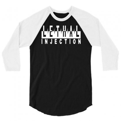 Lethal Injection 3/4 Sleeve Shirt Designed By Hezz Art