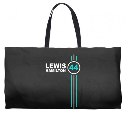 Lewis Hamilton Number 44 Weekender Totes Designed By Hezz Art