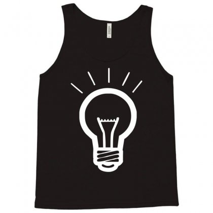 Light Bulb Funny Tank Top Designed By Hezz Art