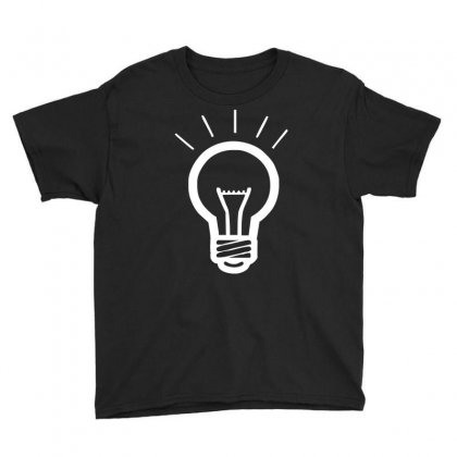 Light Bulb Funny Youth Tee Designed By Hezz Art