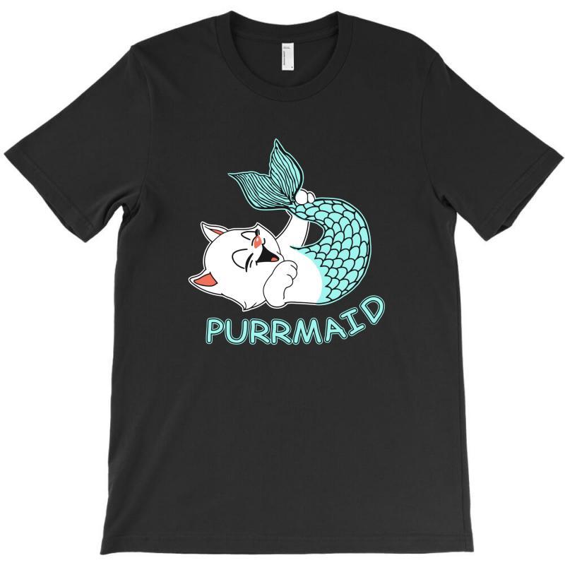 Funny Purr Maid Cat Mermaid T-shirt | Artistshot