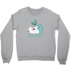 funny purr maid cat mermaid Crewneck Sweatshirt | Artistshot